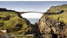 Tintagel Castle Bridge Contest Design by Jean-François Blassel Architecte