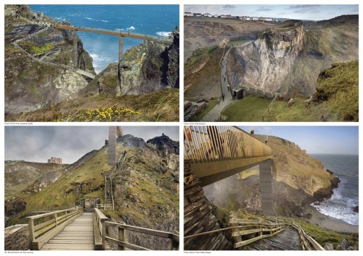 Tintagel Castle Bridge Contest Design by Marks Barfield Architects