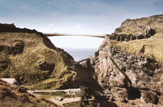 Tintagel Castle Bridge Contest Design by Niall McLaughlin Architects