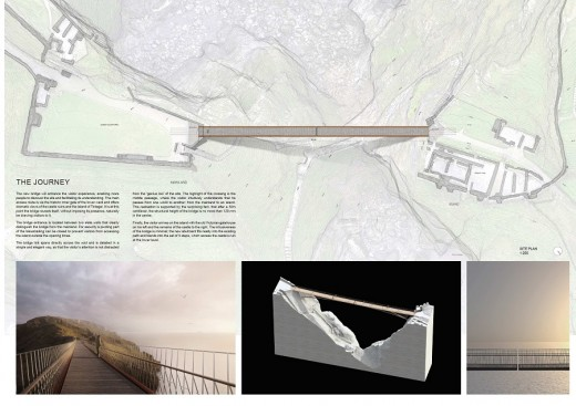 Tintagel Castle footbridge design by Ney & Partners