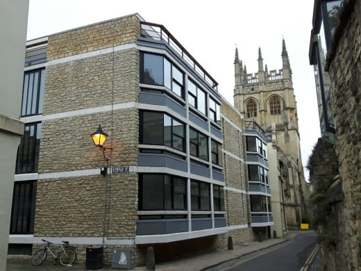 Corpus Christi College Oxford building by Powell and Moya