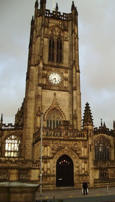 Manchester Cathedral building entry