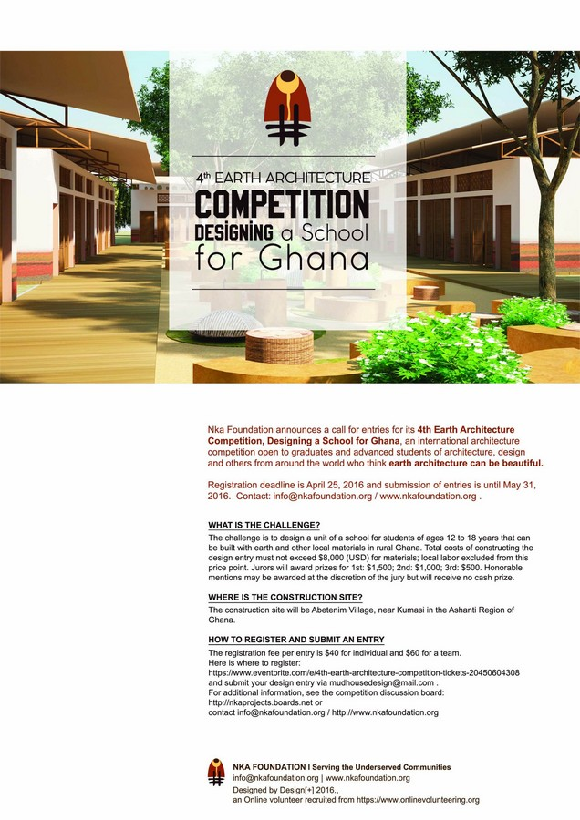 Mud house design competition 2016 poster e architect for Architecture house design competitions