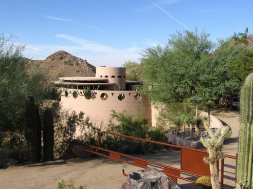 Norman Lykes home in Arizona by Frank Lloyd Wright