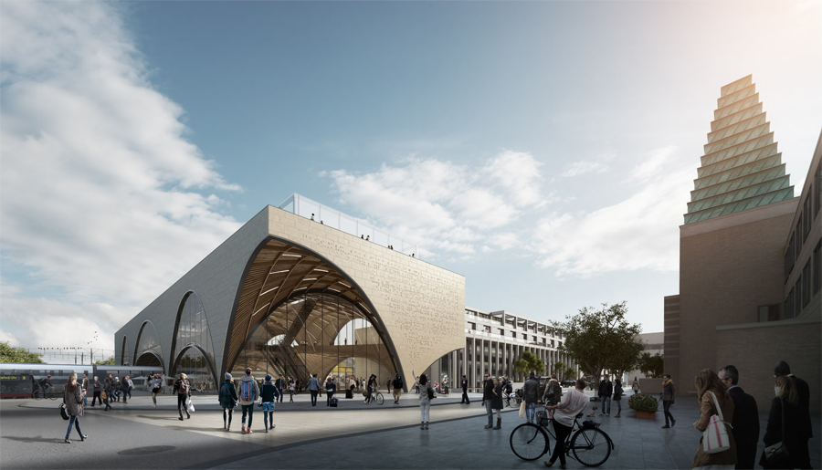 Oxford Station Design Ideas Competition F1 E Architect