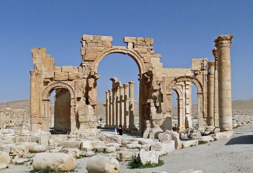 The monumental arch of Palmyra, Syria