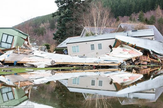 Storm Frank Ballater flooding damage