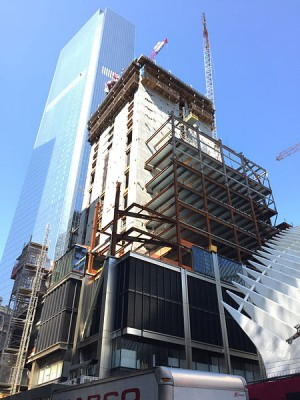 Three World Trade Center construction