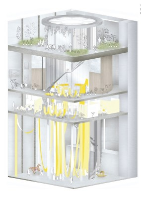 Bangkok Artists Retreat Design Competition 2nd place