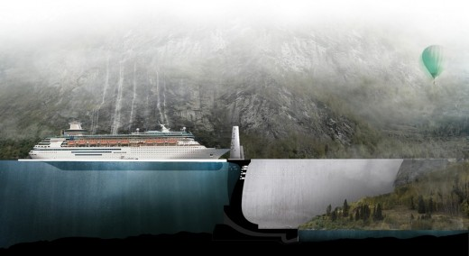 Cruise Terminal at a Fjord