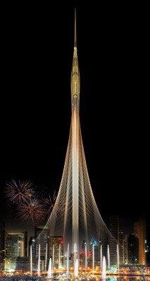 Dubai Creek Harbor Tower by Santiago Calatrava