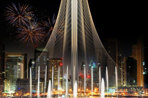 Dubai Creek Observation Tower Building by Santiago Calatrava