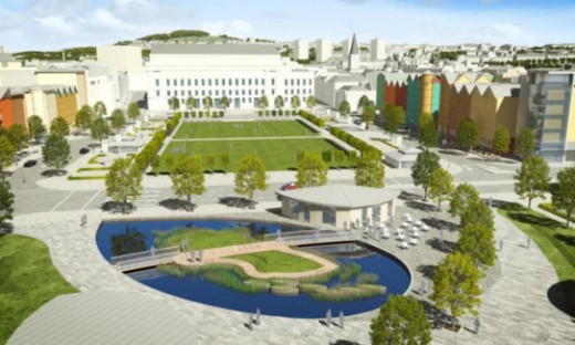 Dundee waterfront water feature design