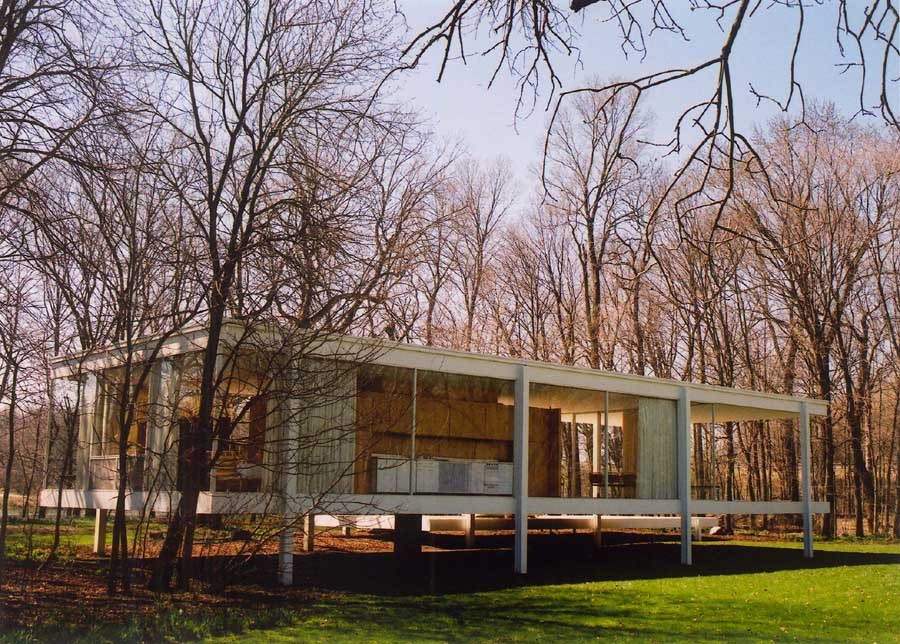 Farnsworth house mies van der rohe photos e architect for Housse illinois