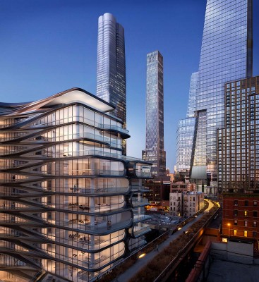 View of Hudson Yards and 520 West 28th Street Looking North from the High Line