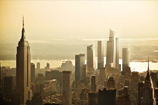 Hudson Yards View from Empire State Building
