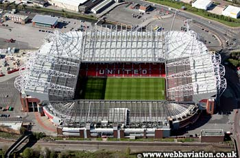 Manchester United Old Trafford aerial photo