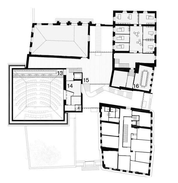 New parliament of the Canton of Vaud Lausanne design by Bonell I Gil Arquitectes S.L. plan