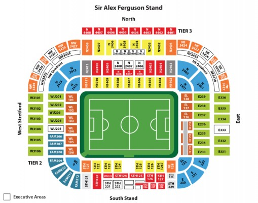 Old Trafford Stadium seating plan