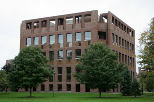 Phillips Exeter Academy Library exterior design by Louis Kahn Architect