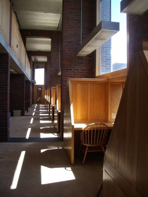 Phillips Exeter Library carrels