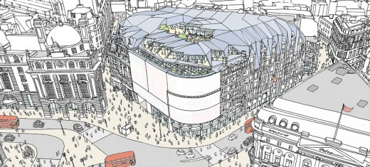 Piccadilly Circus building by Fletcher Priest