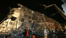 Tainan earthquake building destruction
