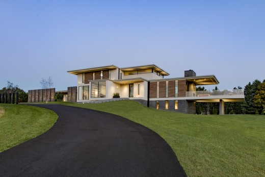 Walker road house in great falls e architect for Contemporary homes virginia