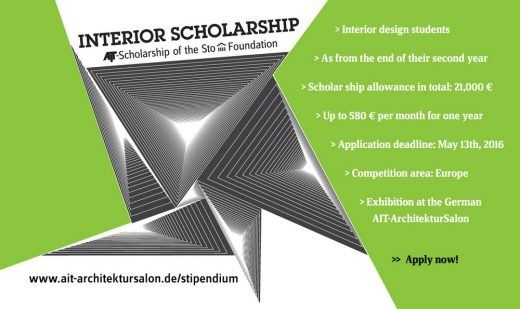 AIT Interior Scholarship 2016 Competition