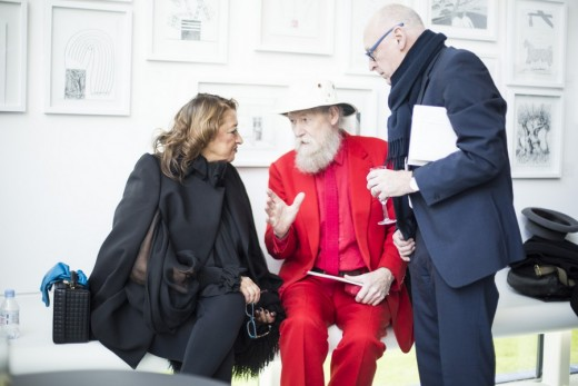 Dame Zaha Hadid, Mike Davies and Sir Peter Cook