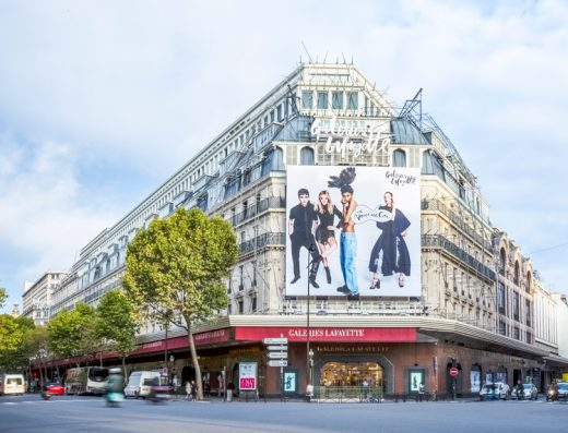 Boulevard Haussmann department store in Paris