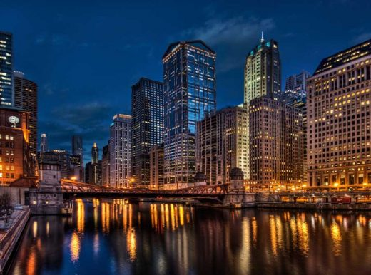 Chicago River Buildings
