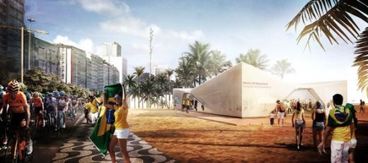 Danish Olympic Pavilion at Ipanema Beach