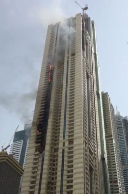 Dubai Sulafa Tower fire