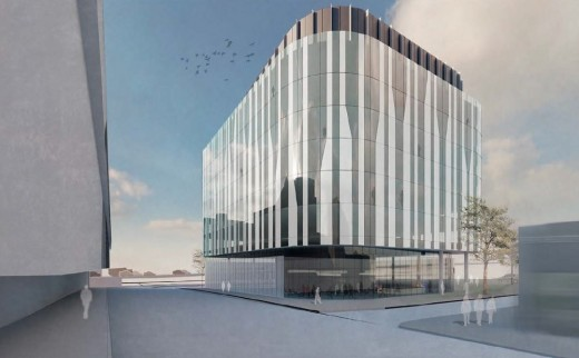 Glasgow Skypark expansion design by Sheppard Robson Architects