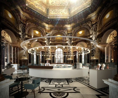 Kunsthistorisches Museum Cafe and Bistro design by Söhne & Partners Architects