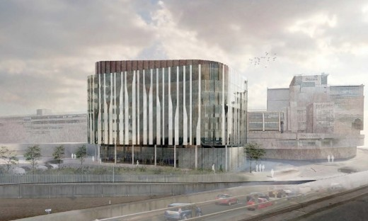 new Glasgow Skypark building design by Sheppard Robson Architects