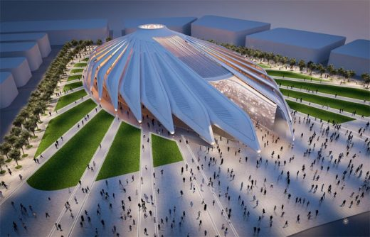 United Arab Emirates Pavilion by Santiago Calatrava architect