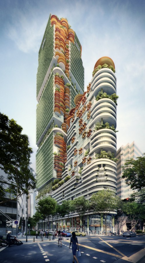sky forest city tower singapore   e architect