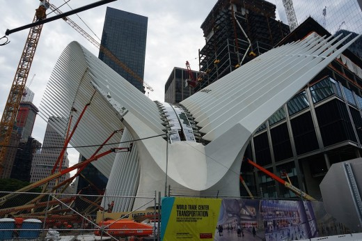 WTC transportation hub New York building by Santiago Calatrava