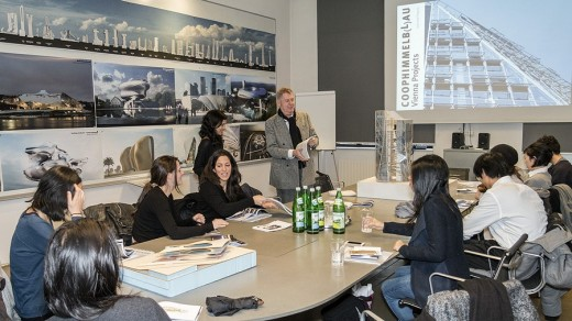 Yale School of Architecture visit Wolf D. Prix at the Coop Himmelb(l)au Vienna office