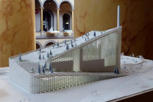 Amager Waste to Energy plant model at The National Building Museum, photo : Joe David