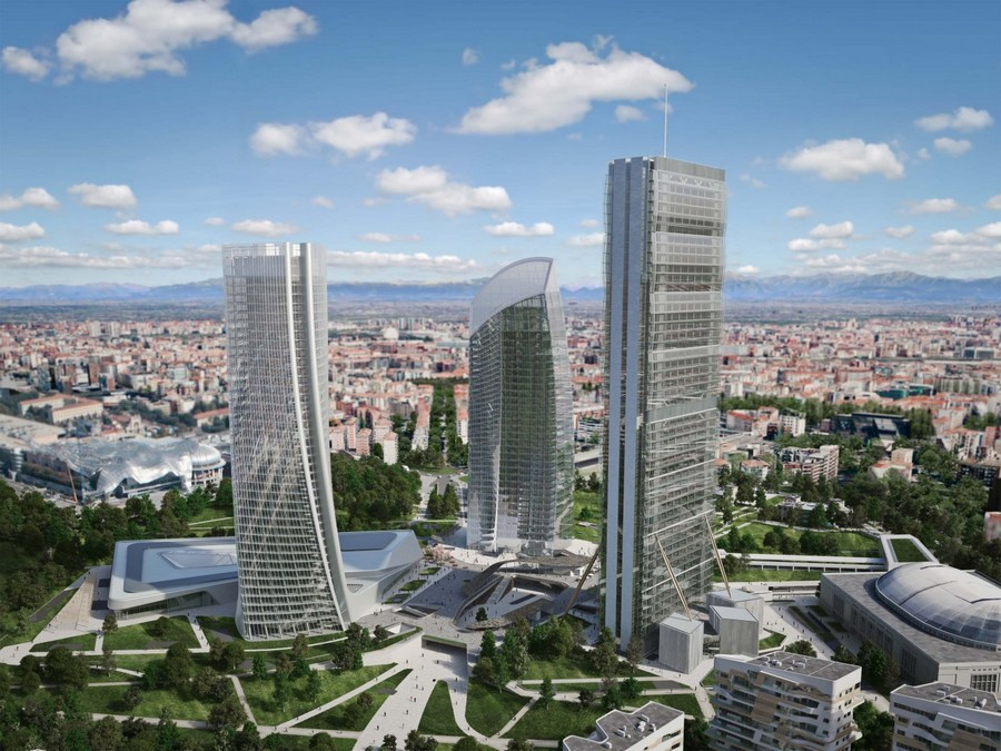 Citylife milano residential complex by zaha hadid e for Milano design district
