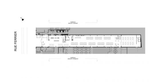 Groupe Dynamite Atrium in Montreal plan