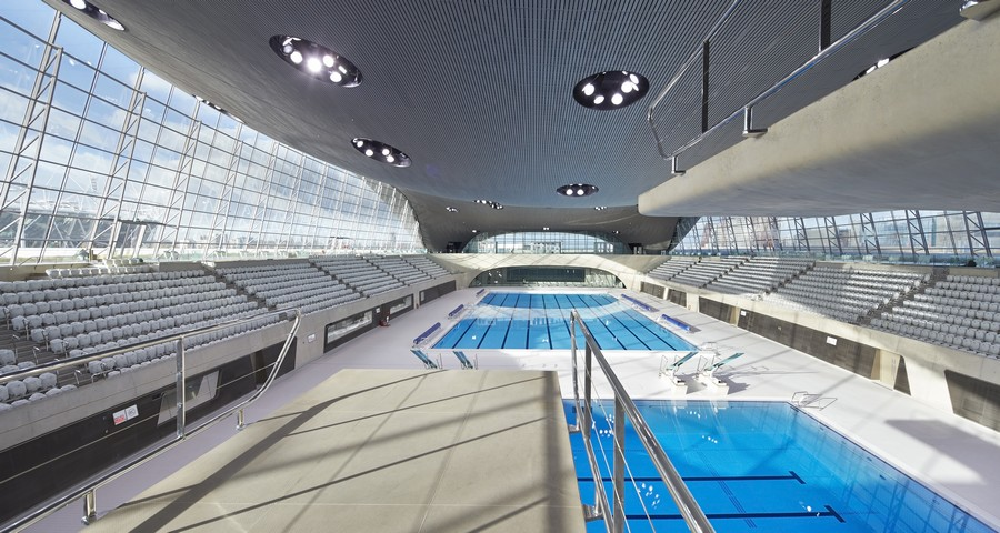 Olympic Swimming Pool 2012 For London Aquatics Centre Interior Centre Olympics Pool By Zaha Hadid Earchitect