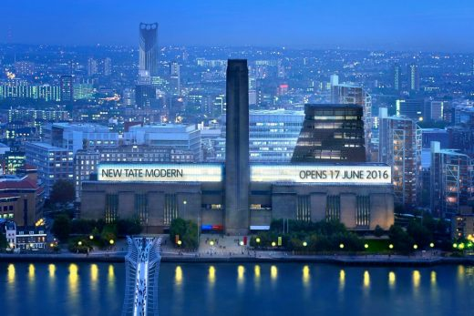 New Tate Modern building from north