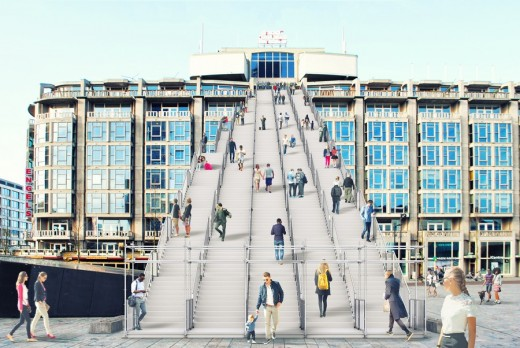 Rotterdam Stationsplein Giant Staircase design
