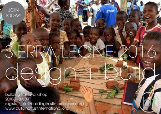 Design + Build Workshop, Sierra Leone - Architecture Events 2016