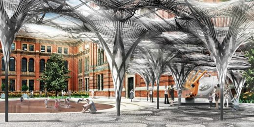 Elytra Filament Pavilion by Achim Menges at the V&A