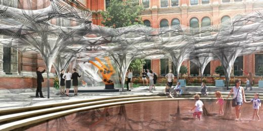 V&A Installation by Achim Menges